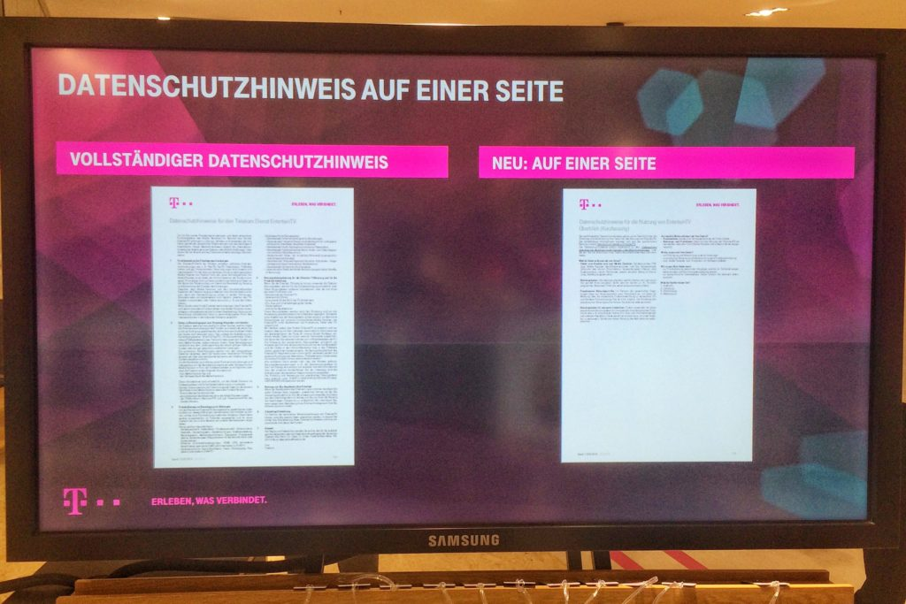 One Pager der Telekom