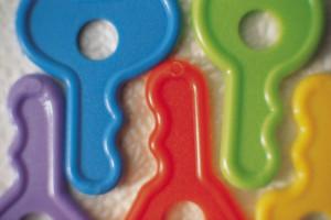 Plastikschlüssel